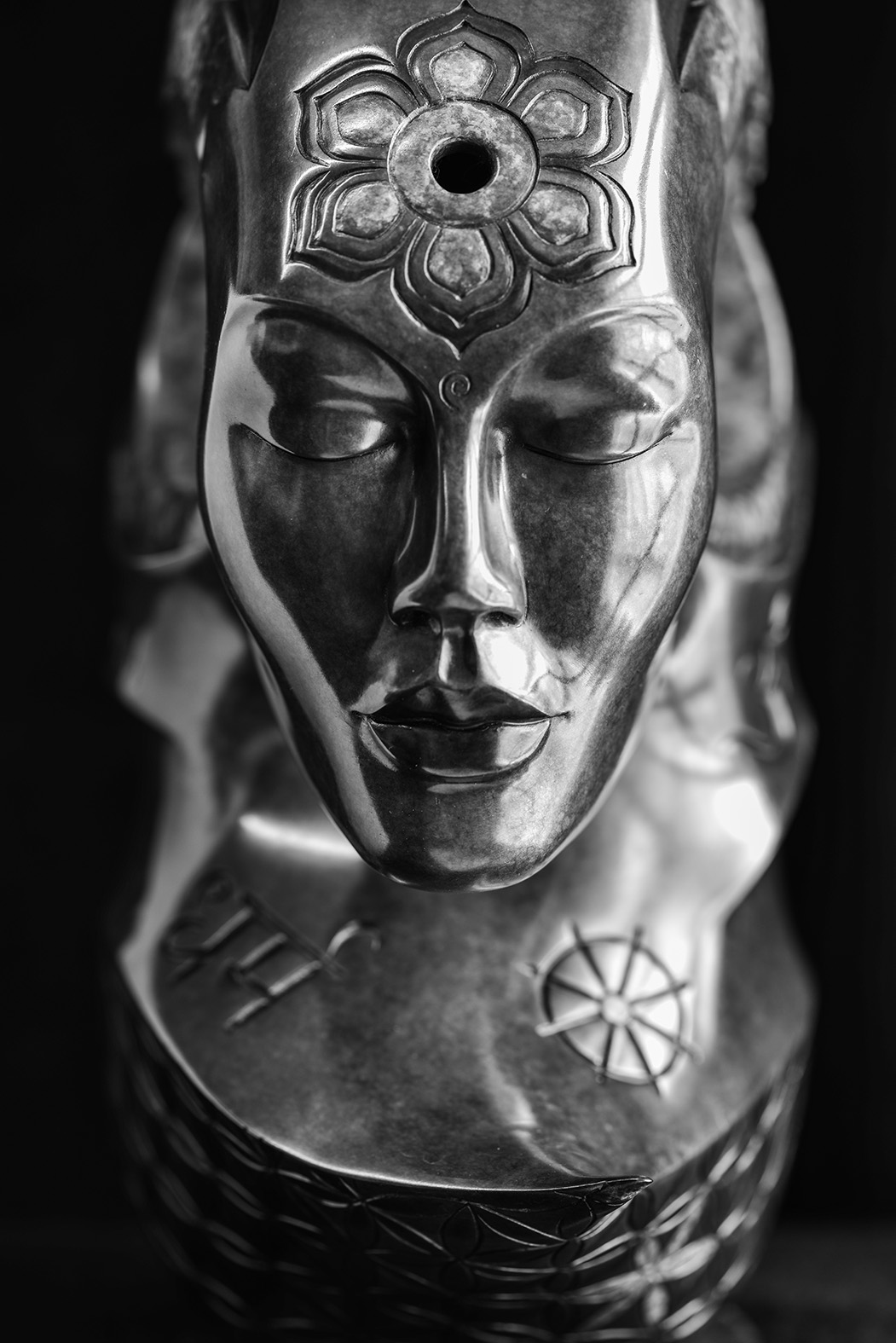 Ahimsa by Andrew Thomas, from the Transformation series. Bronze limited edition of nine