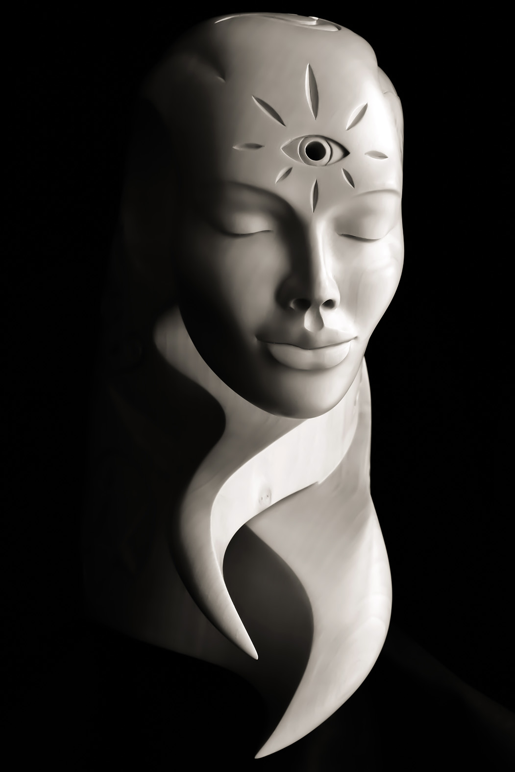 Akasha by Andrew Thomas. Original sculpture in Limewood