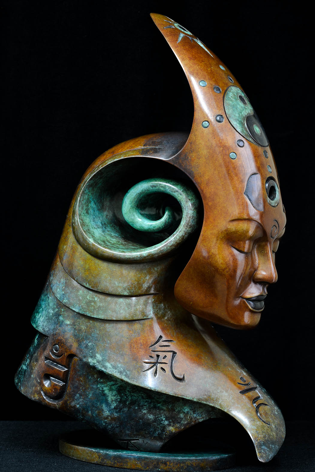Bodhicitta by Andrew Thomas, from the Transformation series. Bronze limited edition of nine
