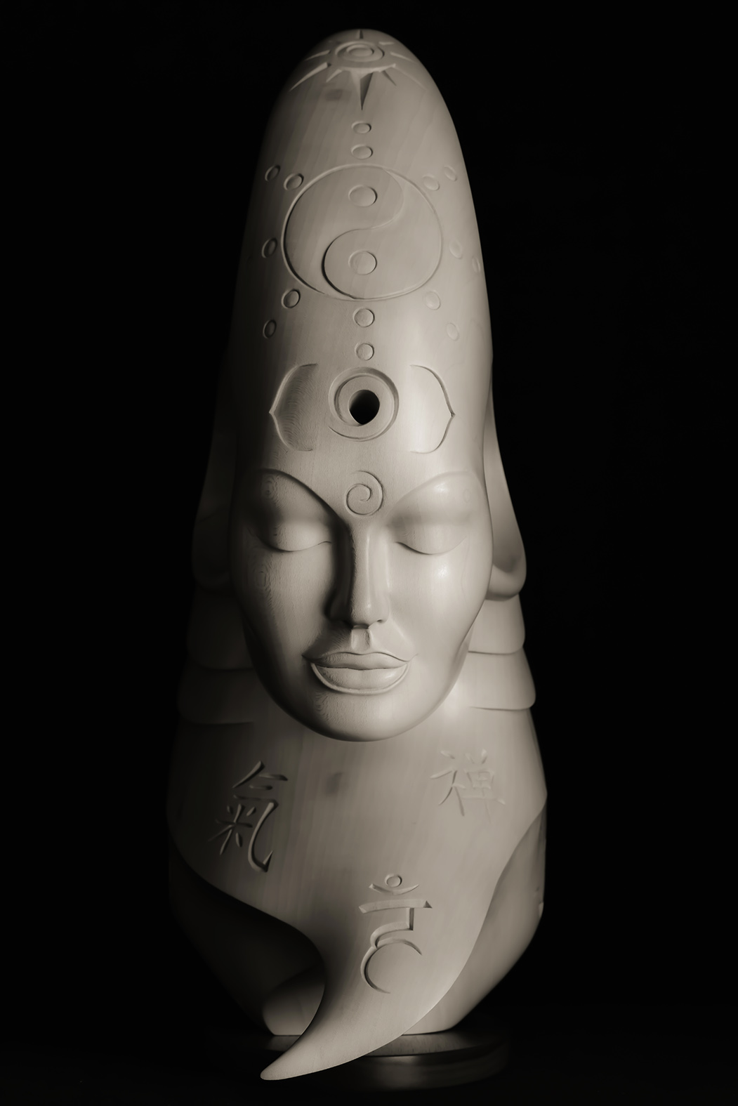 Bodhicitta by Andrew Thomas. Original sculpture in Limewood