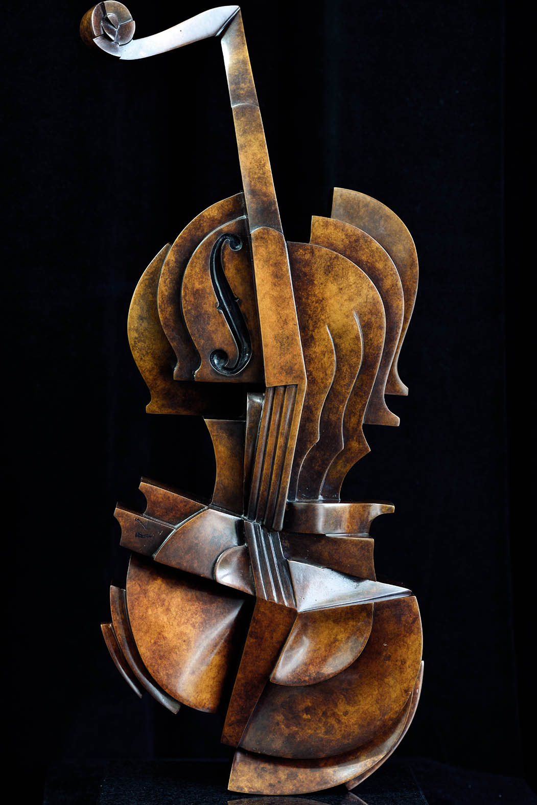 Cello by Andrew Thomas, from the Instrument series. Bronze limited edition of twelve