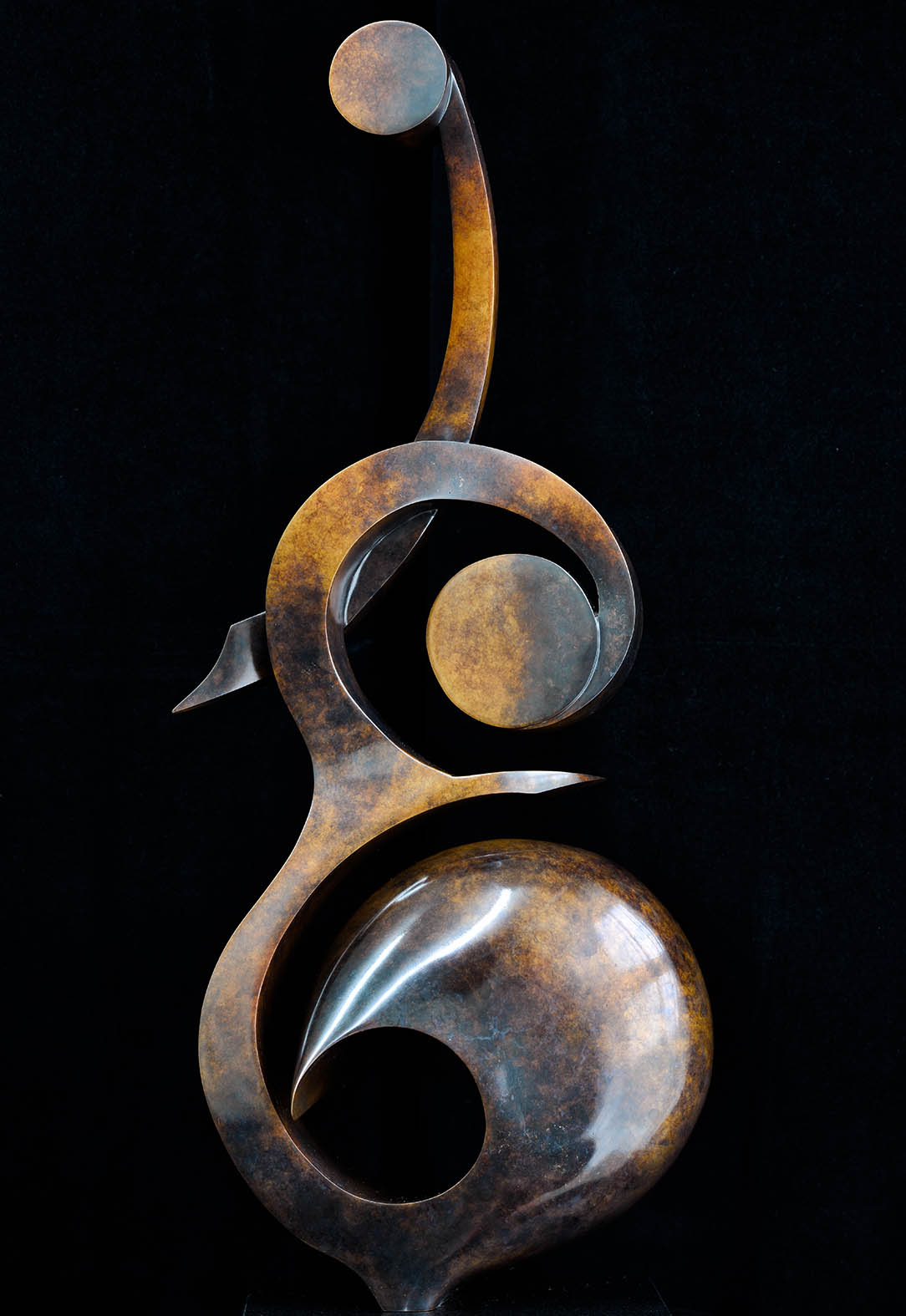 Double Bass by Andrew Thomas, from the Instrument series. Bronze