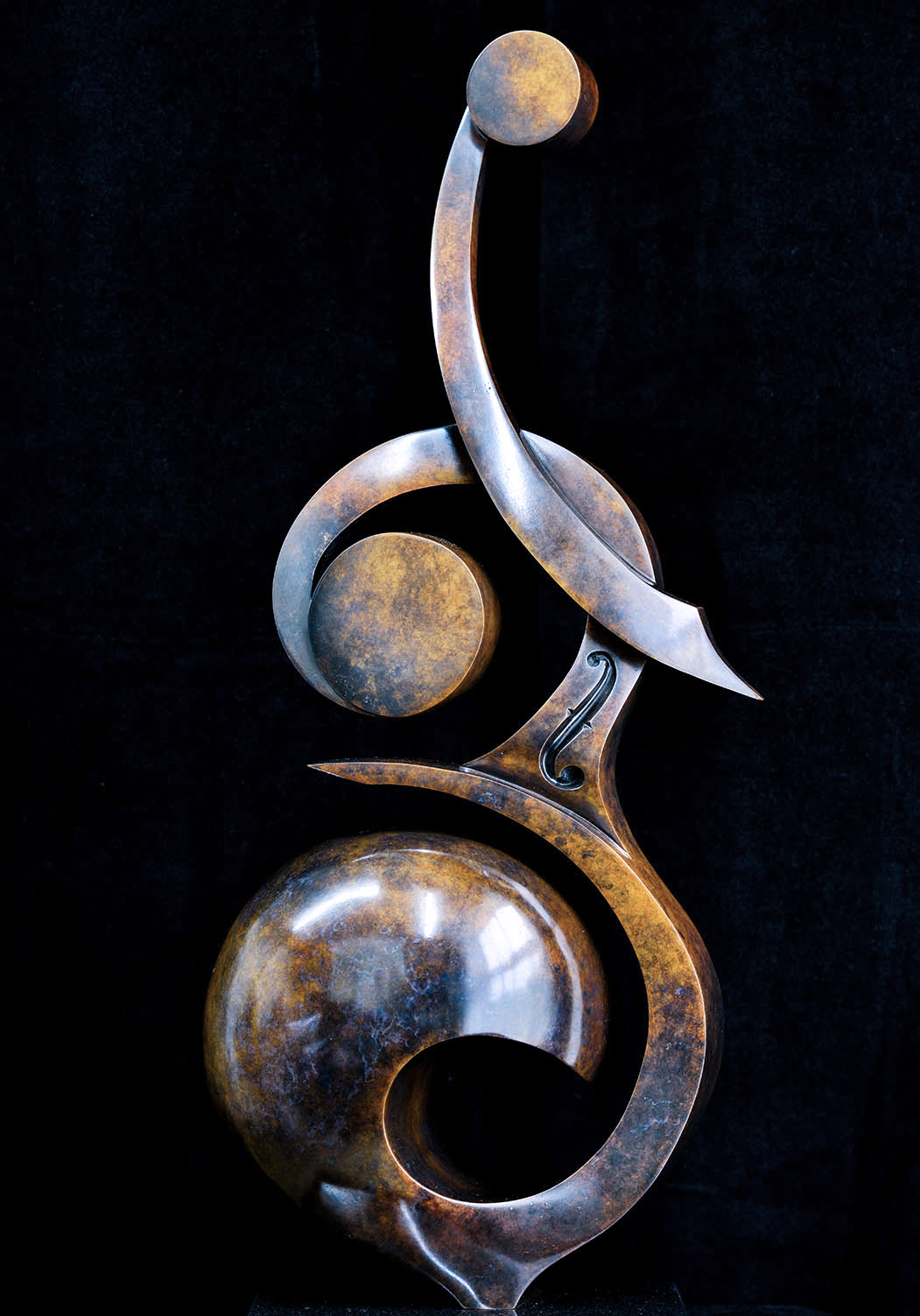 Double Bass by Andrew Thomas, from the Instrument series. Bronze limited edition of seven