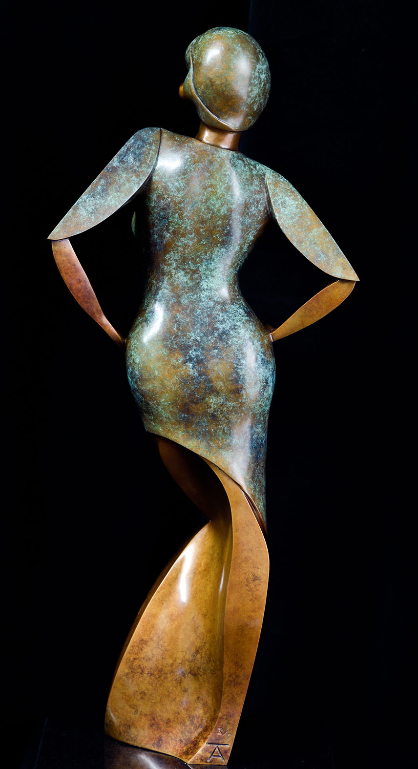 Eva by Andrew Thomas, from the Female series. Bronze