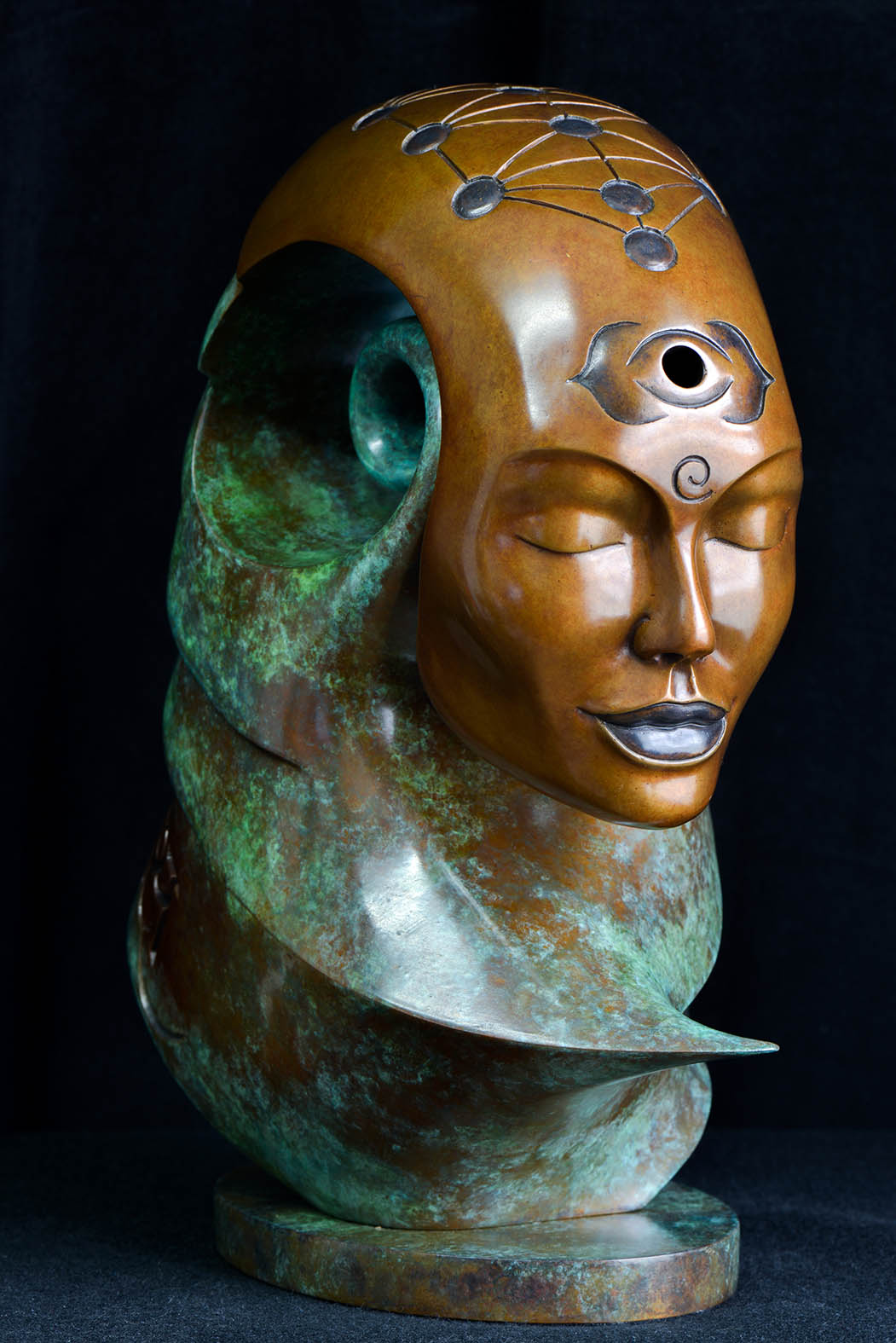 Moksha by Andrew Thomas, from the Transformation series. Bronze limited edition of nine