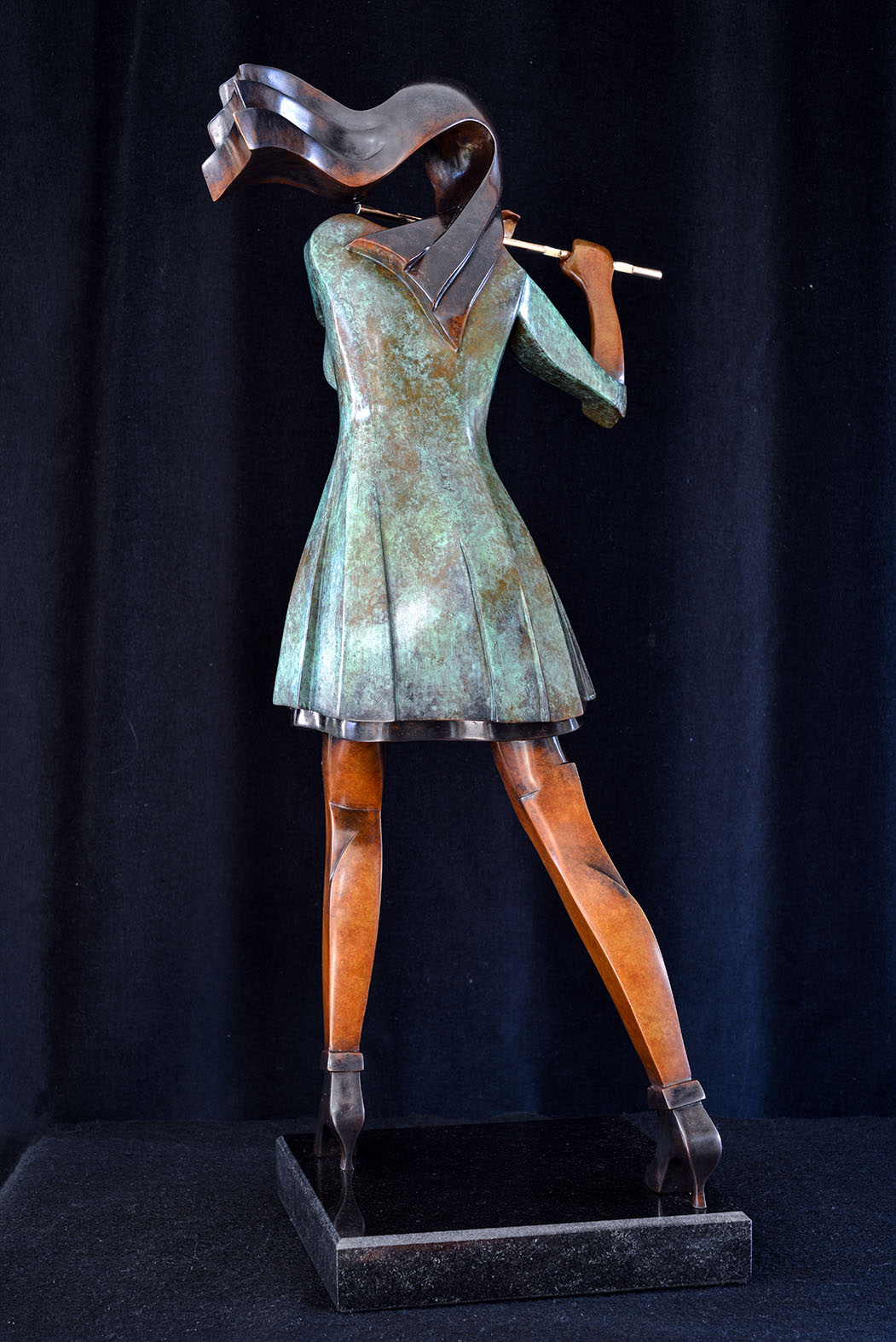 Rehana by Andrew Thomas, from the Female series. Bronze