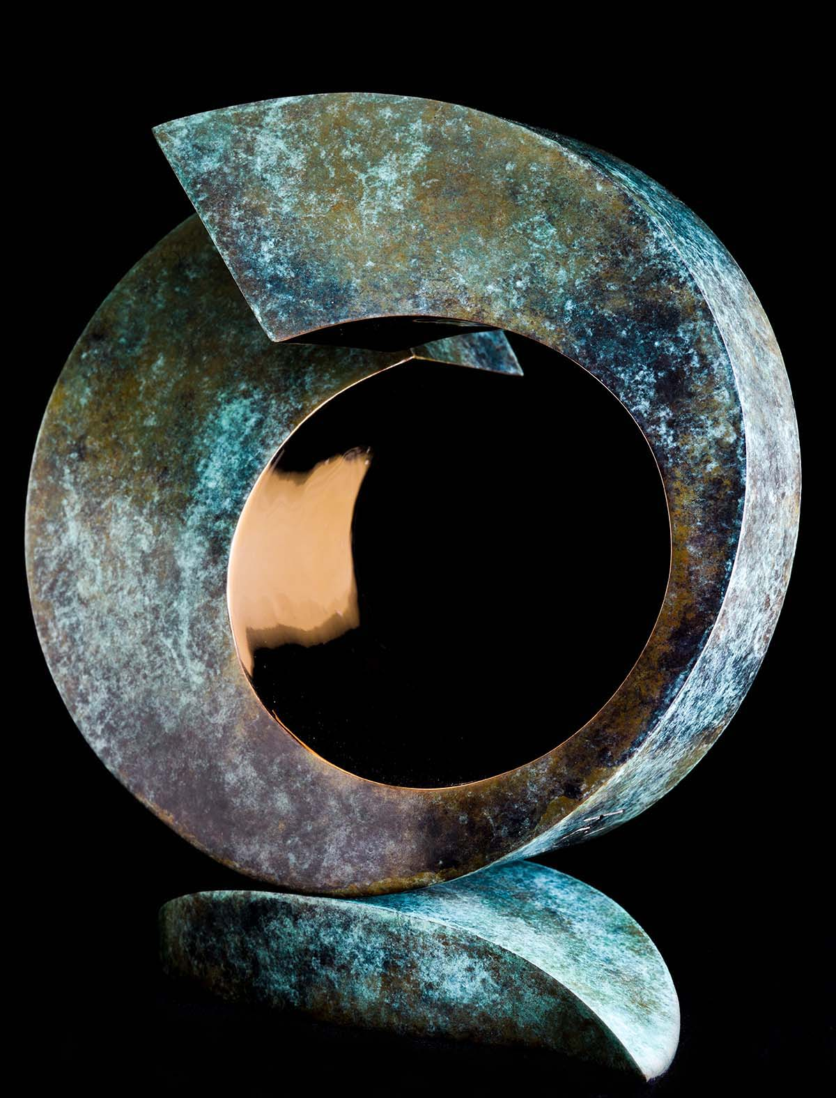 Samsara by Andrew Thomas, from the Surface to Depth series. Bronze limited edition of nine