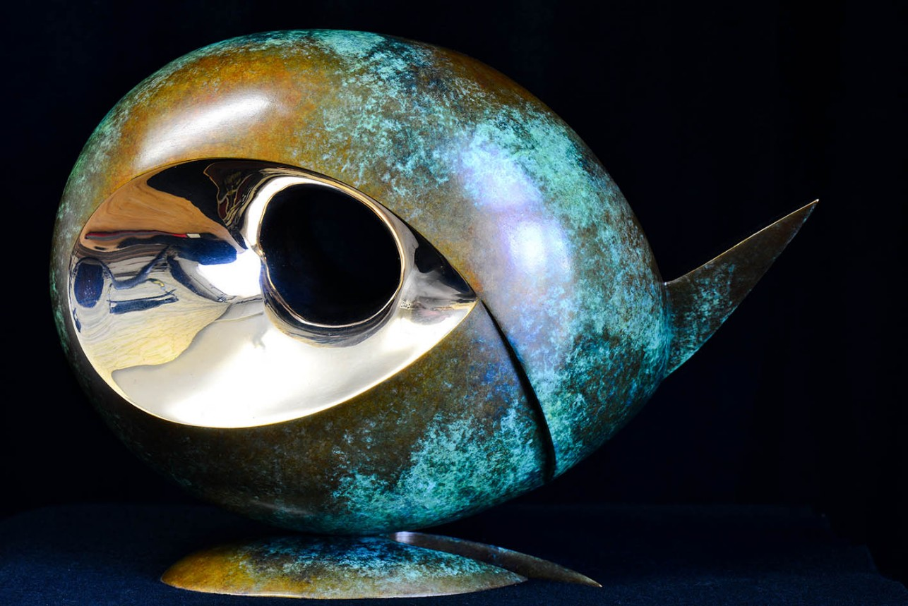 Surface to Depth by Andrew Thomas, from the Surface to Depth series. Bronze limited edition of seven