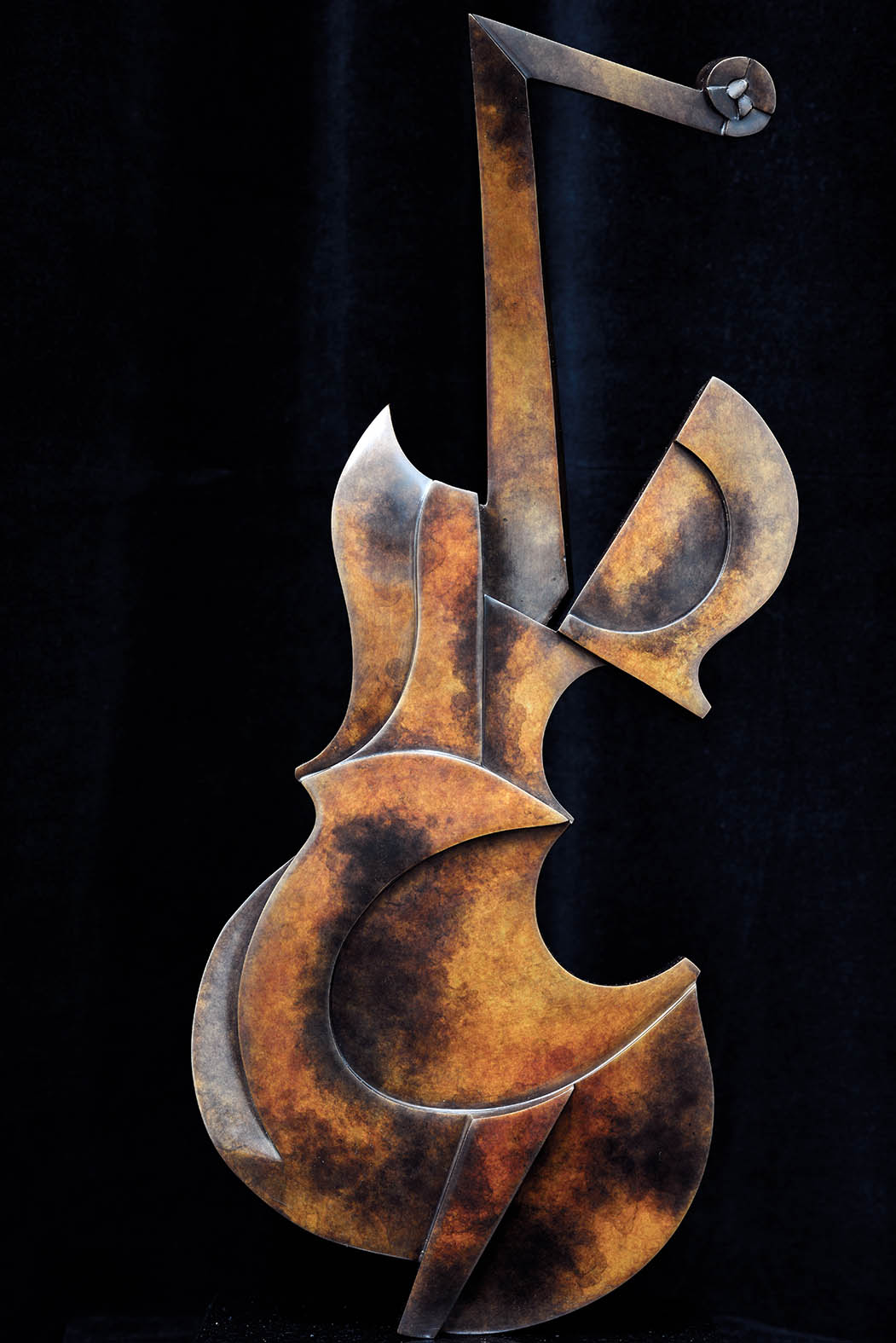 Violin by Andrew Thomas, from the Instrument series. Bronze